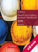 Cover of Tolley's Health and Safety at Work Handbook 2016 (eBook)
