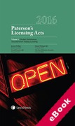 Cover of Paterson's Licensing Acts 2016 (eBook)