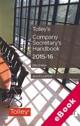 Cover of Tolley's Company Secretary's Handbook 2015-16 (eBook)
