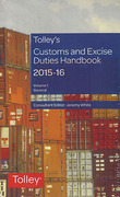 Cover of Tolley's Customs and Excise Duties Handbook Set 2015-16