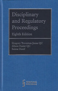 Cover of Disciplinary and Regulatory Proceedings