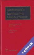 Cover of Macdonald's Immigration Law and Practice with 1st supplements (Book & eBook Pack)