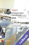 Cover of Tolley's Employment Handbook 2015 (Book & eBook Pack)