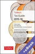 Cover of Tolley's Tax Guide 2015-16 (Book & eBook Pack)
