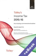 Cover of Tolley's Income Tax 2015-16 (Book & eBook Pack)