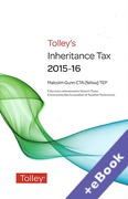 Cover of Tolley's Inheritance Tax 2015-16 (Book & eBook Pack)