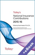 Cover of Tolley's National Insurance Contributions 2015-16 (Book & eBook Pack)