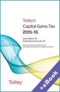 Cover of Tolley's Capital Gains Tax 2015-16 (Book & eBook Pack)