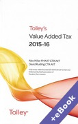 Cover of Tolley's Value Added Tax 2015-16: 2nd edition (Book & eBook Pack)