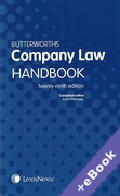Cover of Butterworths Company Law Handbook 2015 (Book & eBook Pack)