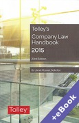 Cover of Tolley's Company Law Handbook 2015 (Book & eBook Pack)