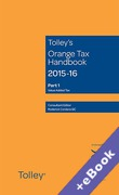 Cover of Tolley's Orange Tax Handbook 2015-16 (Book & eBook Pack)
