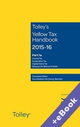 Cover of Tolley's Yellow Tax Handbook 2015-16 (Book & eBook Pack)