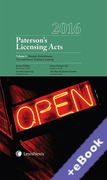 Cover of Paterson's Licensing Acts 2016 (Book & eBook Pack)