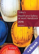Cover of Tolley's Health and Safety at Work Handbook 2016 (Book & eBook Pack)