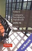 Cover of Tolley's Company Secretary's Handbook 2015-16 (Book & eBook Pack)