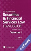 Cover of Butterworths Securities and Financial Services Law Handbook 2015 (Book & eBook Pack)