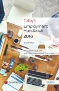 Cover of Tolley's Employment Handbook 2016