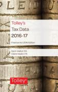 Cover of Tolley's Tax Data 2016-17: Finance Act 2016 edition