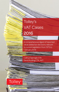 Cover of Tolley's VAT Cases 2016