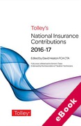 Cover of Tolley's National Insurance Contributions 2016-17 (eBook)