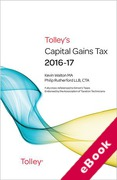 Cover of Tolley's Capital Gains Tax 2016-17 (eBook)