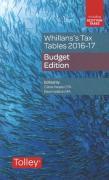 Cover of Whillans's Tax Tables 2016-17: Budget Edition