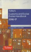 Cover of Tolley's Customs and Excise Duties Handbook Set 2016-17