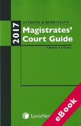 Cover of Anthony and Berryman's Magistrates Court Guide: 2017 (eBook)