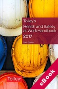 Cover of Tolley's Health and Safety at Work Handbook 2017 (eBook)
