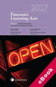 Cover of Paterson's Licensing Acts 2017 (eBook)