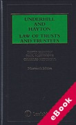 Cover of Underhill and Hayton: Law of Trusts and Trustees (eBook)