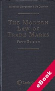 Cover of The Modern Law of Trade Marks (eBook)