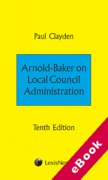 Cover of Arnold-Baker on Local Council Administration  (eBook)