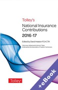 Cover of Tolley's National Insurance Contributions 2016-17 (Book & eBook Pack)
