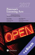 Cover of Paterson's Licensing Acts 2017 (Book & eBook Pack)