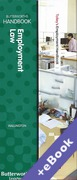 Cover of Two Volume Set: Butterworths Employment Law Handbook 2016 & Tolley's Employment Handbook 2016 (Book & eBook Pack)