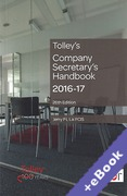 Cover of Tolley's Company Secretary's Handbook 2016-17 (Book & eBook Pack)