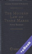Cover of The Modern Law of Trade Marks (Book & eBook Pack)