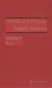 Cover of Words and Phrases Legally Defined 4th ed with 2017 Supplement
