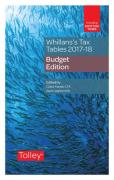 Cover of Whillans's Tax Tables 2017-18: Budget Edition