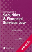 Cover of Butterworths Securities and Financial Services Law Handbook 2017 (eBook)