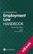 Cover of Butterworths Employment Law Handbook 2017 (eBook)