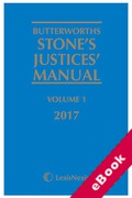 Cover of Butterworths Stone's Justices' Manual 2017 (eBook)