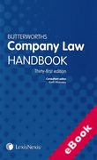 Cover of Butterworths Company Law Handbook 2017 (eBook)