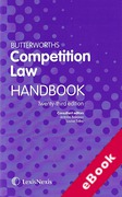 Cover of Butterworths Competition Law Handbook 2017 (eBook)