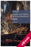 Cover of Tolley's Health and Safety at Work Handbook 2018 (eBook)