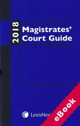 Cover of Anthony and Berryman's Magistrates Court Guide: 2018 (eBook)
