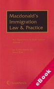 Cover of Macdonald's Immigration Law and Practice 9th ed: 1st Supplements (eBook)