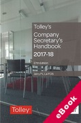 Cover of Tolley's Company Secretary's Handbook 2017-18 (eBook)